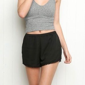 Brandy Melville Black Lace Trim Leticia Shorts